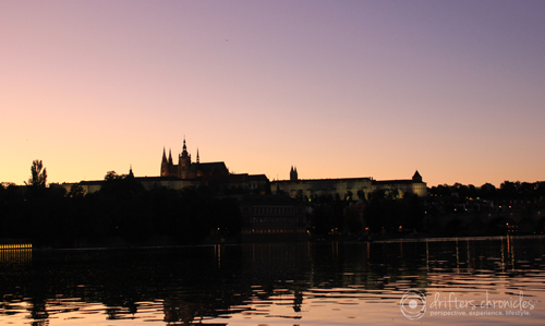 A view of the Prague Castle from the Vltava river.