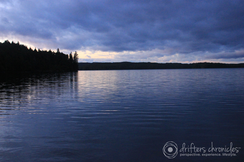 A north view of Big Trout Lake from our campsite.