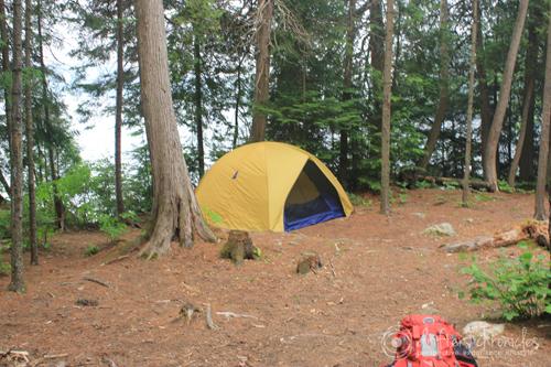 Burnt Island Lake campsite.