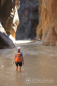 "Hiking in Zion National Park ""The Narrows"""