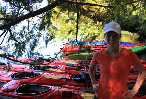 Me and the kayaks.