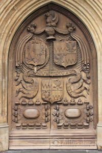 The door at the Bath Abbey