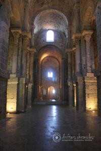 The stonework inside was beautiful.