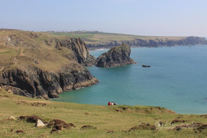 The scenic coastline