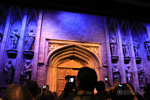 The entrance to Hogwarts